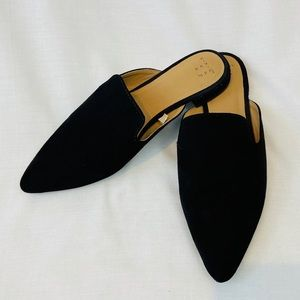 A New Day Target Black Mule Loafer Pointed Toe